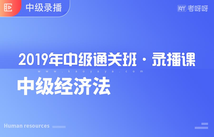 2019年《中级经济法》-于群(更新完成)